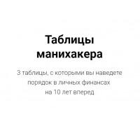 Таблицы Манихакера Светлана Шишкина (+ видео инструкция)